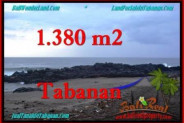 Beautiful PROPERTY 1,380 m2 LAND IN Tabanan Selemadeg FOR SALE TJTB270