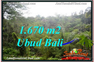 Exotic UBUD BALI 1,670 m2 LAND FOR SALE TJUB569
