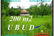 FOR SALE Magnificent PROPERTY 200 m2 LAND IN UBUD BALI TJUB584