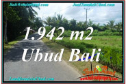 FOR SALE Exotic 1,942 m2 LAND IN UBUD TJUB626
