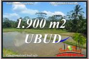 FOR SALE Beautiful 1,900 m2 LAND IN UBUD BALI TJUB629